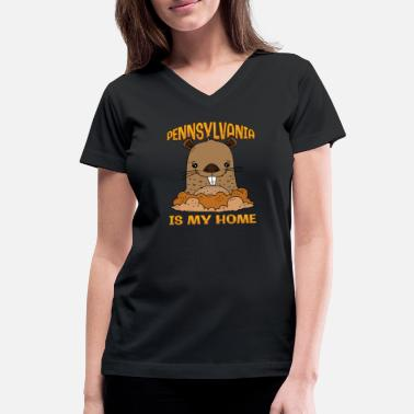 Punxsutawney Phil Groundhog Day Punxsutawney Phil Pennsylvania PA - Women's V-Neck T-Shirt