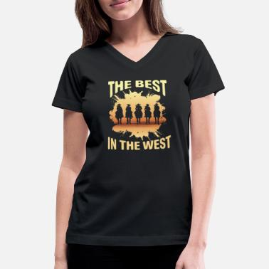Western Western Country - Women's V-Neck T-Shirt