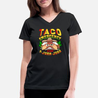Emergency Call Taco Emergency Call 9 Juan Juan - Women's V-Neck T-Shirt