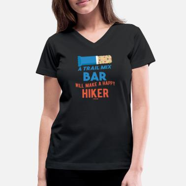 Hunger Trail Mix Day Camping Hiking healthy - Women's V-Neck T-Shirt