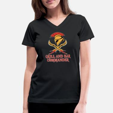 Meateaters grill and bar commander - Women's V-Neck T-Shirt