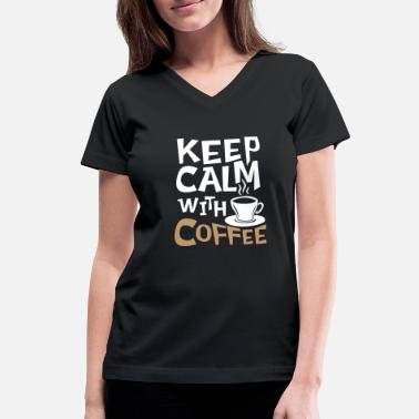 Late Risers Coffee early riser late riser caffeine cup - Women's V-Neck T-Shirt