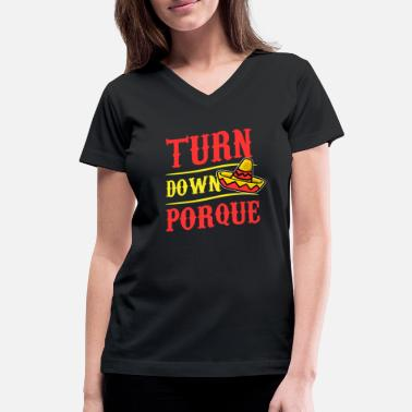 Spain Mexico sombrero country vacation flag funny - Women's V-Neck T-Shirt