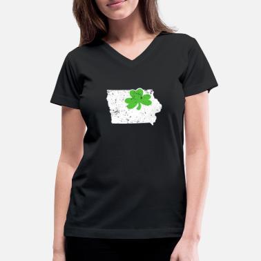 Des Moines City Shamrock Cotton T-Shirt