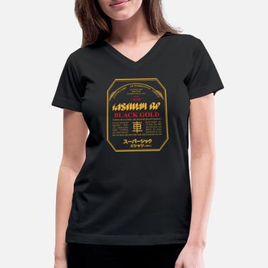 Fastway Beer Can Black Gold - Women's V-Neck T-Shirt