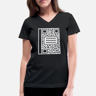 Composition QR Composition - Women's V-Neck T-Shirt