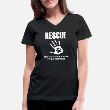 Rescue Dog Rescue Dog - Women's V-Neck T-Shirt