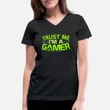 Computer Game Computer Gaming - Women's V-Neck T-Shirt