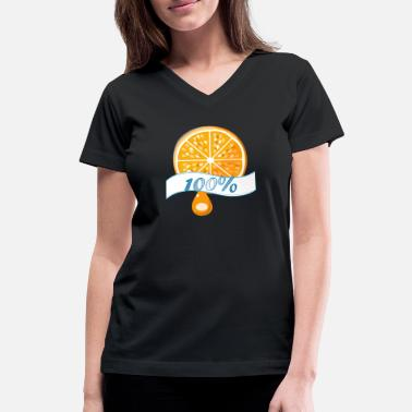 Fruit 100%orange - Women's V-Neck T-Shirt