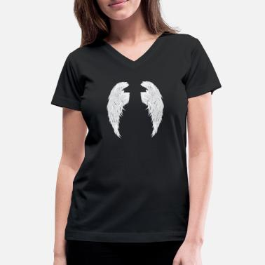 Wings wings - Women's V-Neck T-Shirt