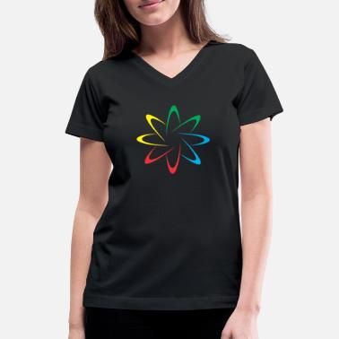 Colorful Circles Colorful Circles - Women's V-Neck T-Shirt