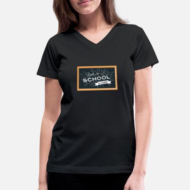Back To School Back To School Background - Women's V-Neck T-Shirt