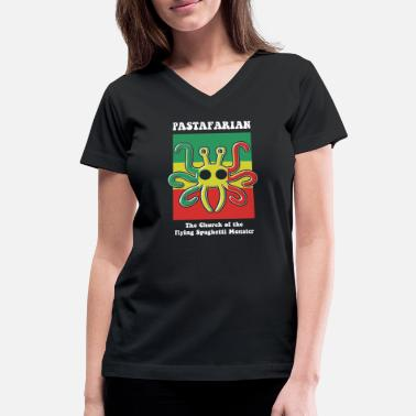 Pastafarian - Pastafarian -- The Church of the F - Women's V-Neck T-Shirt
