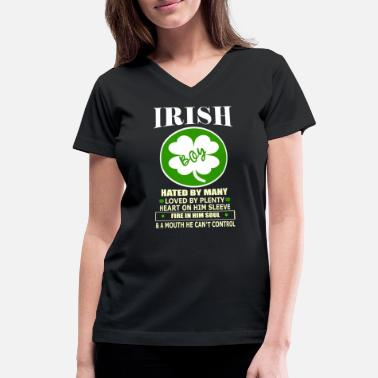 IRISH BOY ST. PATRICKS DAY TEE - Women's V-Neck T-Shirt