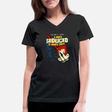 Bluzki, topy i koszulki Stay Wierd Witch Girl Hipster V Neck Women's T-Shirt Witches Festival