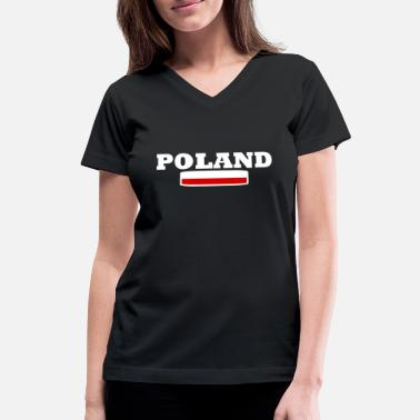 Poland Poland flag - Women's V-Neck T-Shirt