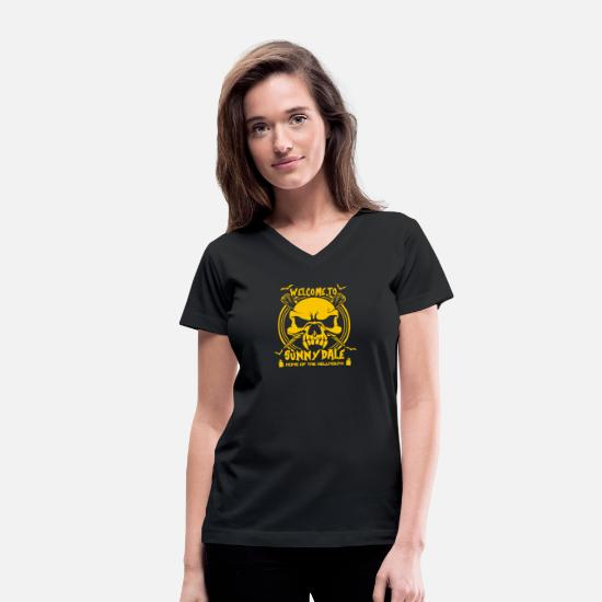 Movie T-Shirts - Welcome to Sunnydale - Women's V-Neck T-Shirt black