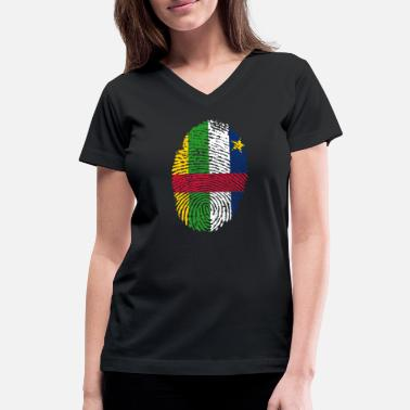 Central America central african republic - Women's V-Neck T-Shirt