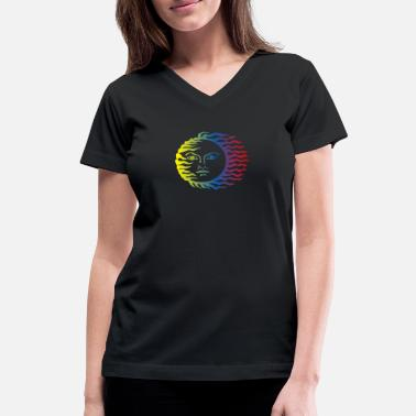 Tribal Sun sun - Women's V-Neck T-Shirt