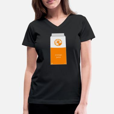 Orange Juice Orange Juice Carton - Women's V-Neck T-Shirt