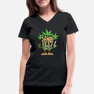 Cannabis cannabis fries - Women's V-Neck T-Shirt