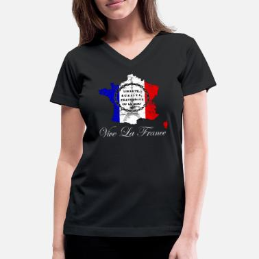 Vive La France Bastille Day Vive La France, la Fete Nationale - Women's V-Neck T-Shirt