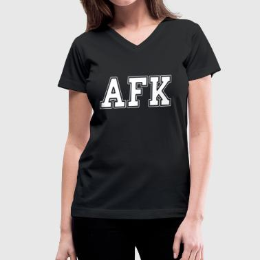 AFK - Women's V-Neck T-Shirt
