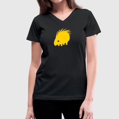 porcupine - Women's V-Neck T-Shirt