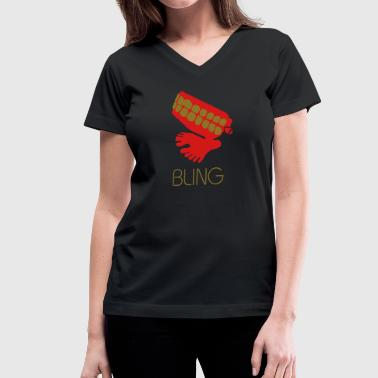Bling - Women's V-Neck T-Shirt