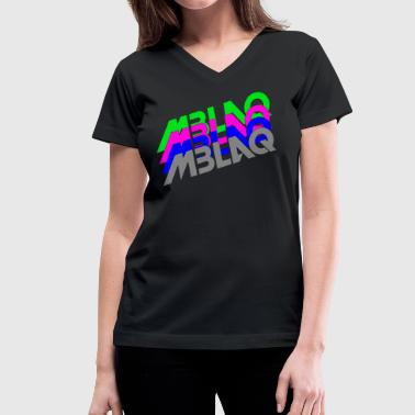 MBLAQ Multicolored Logo Women's Tank Top - Women's V-Neck T-Shirt