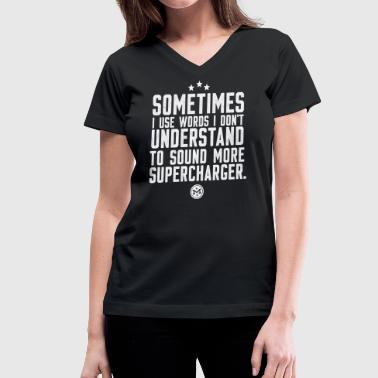 Funny Mini Cooper Words I Don't Understand - Women's V-Neck T-Shirt