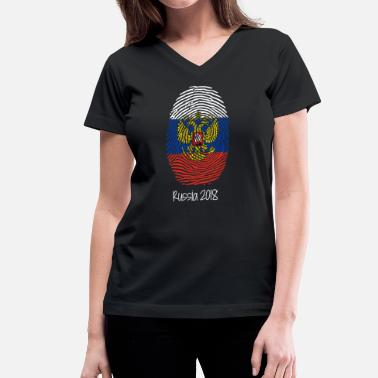 Russia World Cup 2018 - Women's V-Neck T-Shirt