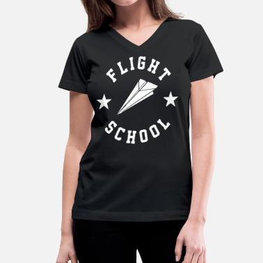 Flight School Flight School - stayflyclothing.com - Women's V-Neck T-Shirt