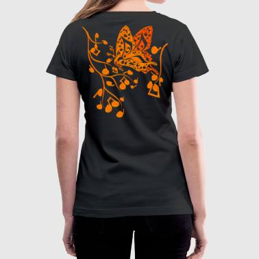 Music Butterfly Butterfly_Notes - Women's V-Neck T-Shirt