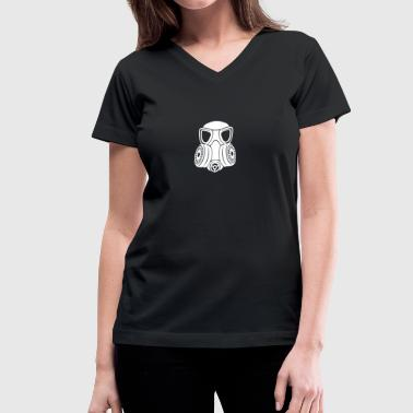 Gas mask - Women's V-Neck T-Shirt