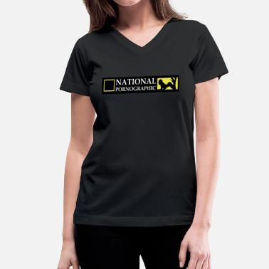 National Geographic National Pornographic - Women's V-Neck T-Shirt