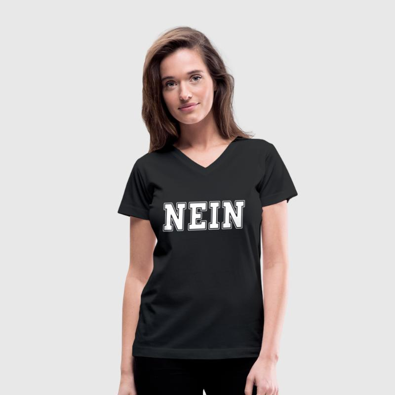 NEIN college - Women's V-Neck T-Shirt