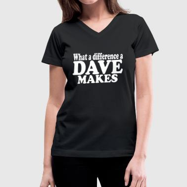 DAVE - Women's V-Neck T-Shirt