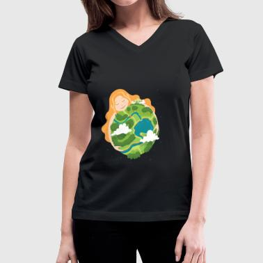 Earth Day earth day - Women's V-Neck T-Shirt