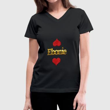 Ebony Ebonie - Women's V-Neck T-Shirt