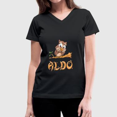 Aldo Owl - Women's V-Neck T-Shirt