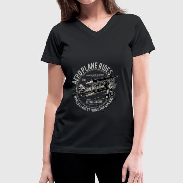 In The Aeroplane Aeroplane - Women's V-Neck T-Shirt