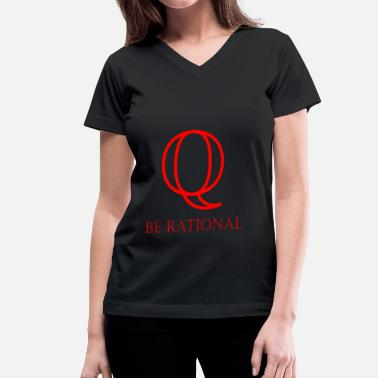 Math Be Rational BE RATIONAL - Women's V-Neck T-Shirt