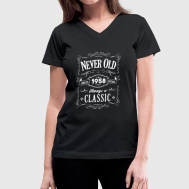 1958 Always A Classic - Vintage 60th Birthday Gift - Women's V-Neck T-Shirt