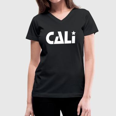 CALI STAR - Women's V-Neck T-Shirt