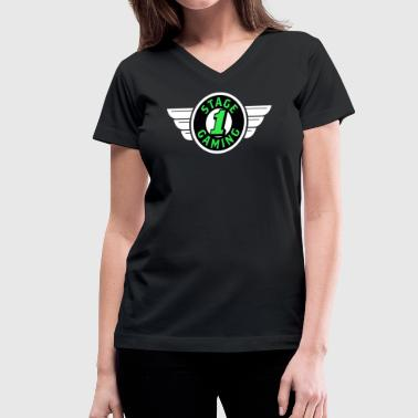 Authentic Stage 1 Gaming Tee - Black - Womens - Women's V-Neck T-Shirt