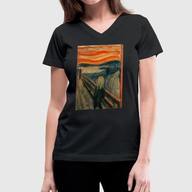 Scream The Scream (Edvard Munch) - Women's V-Neck T-Shirt