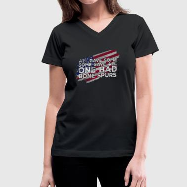 Veterans cadet bone spurs draft dodger shirt - Women's V-Neck T-Shirt