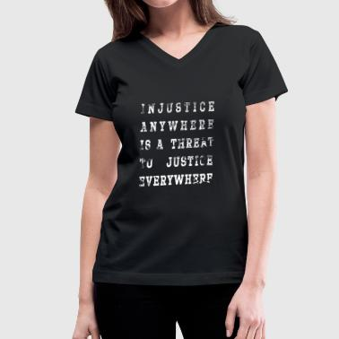injustice - Women's V-Neck T-Shirt