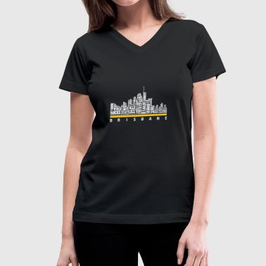 Usedom Brisbane - Brisbane - brisbane great t shirt - Women's V-Neck T-Shirt